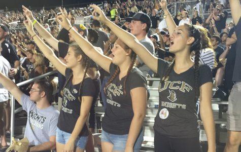 Cheerleaders visit UCF's homecoming