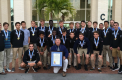 Boys' varsity soccer team honored by county commission