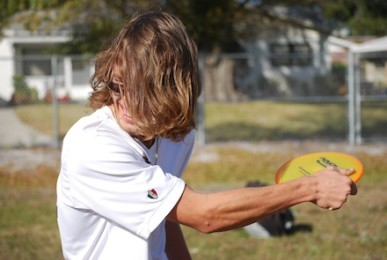 Disc golfer's passion takes flight