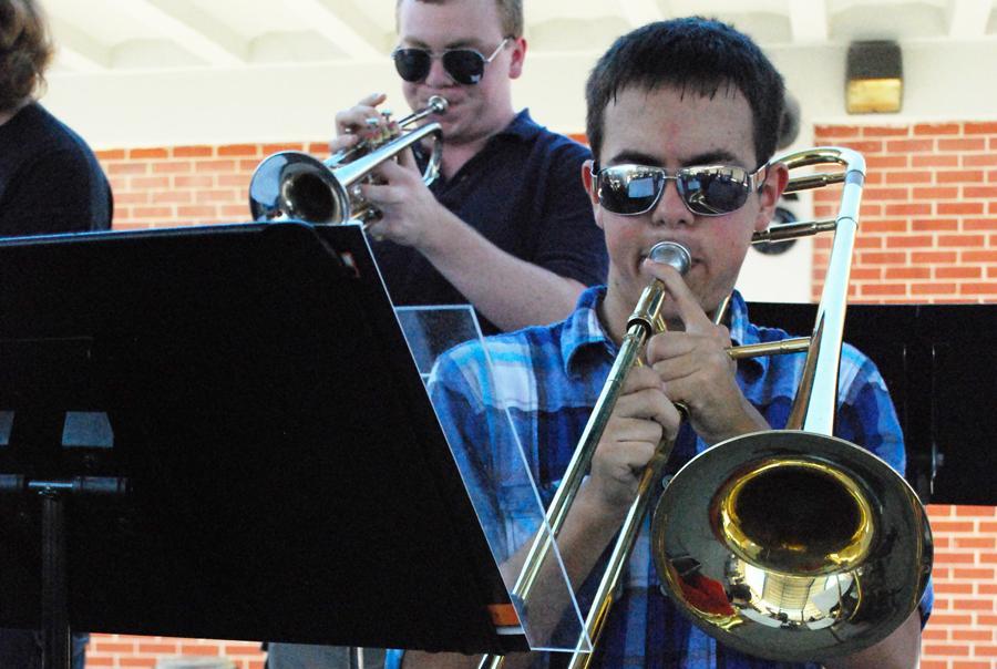 Junior Alex Autenrieb \ and senior Richard Klenotich and perform at last fall's Freedom Week celebration.