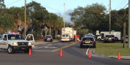 Police blocked off Brevard Avenue after a man barricaded himself in a house Wednesday afternoon.