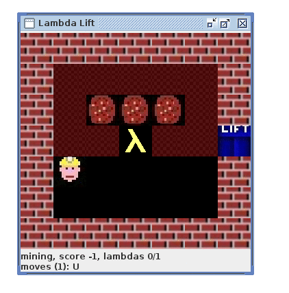 As part of the challenge, a simulated robot collects lambdas.
