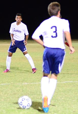 Senior Darshan Ghayal waits for a pass during Tuesday's game.