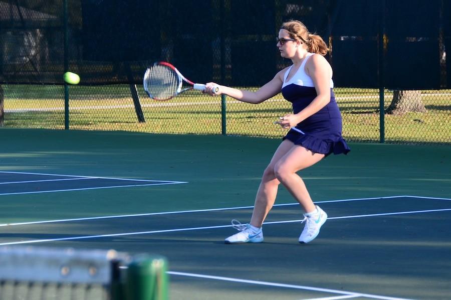 Senior+Erna+Roth+broke+her+racket+during+Tuesday%27s+match.