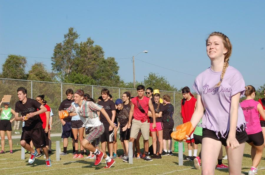 Senior Allison Eaton represented Davis' Divas during the wet sponge competition at last year's Wildcat Challenge.