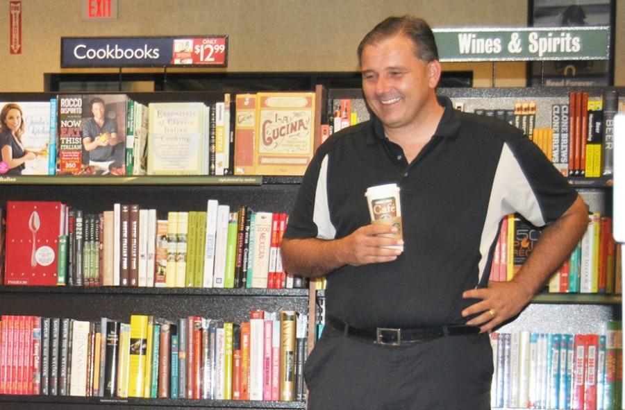 Former+Assistant+Principal+Jim+Melia+enjoys+a+drama+presentation+at+Barnes+and+Noble+in+December+2012.