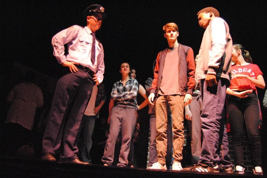 Senior Joey Crown, second from right, wrote the musical