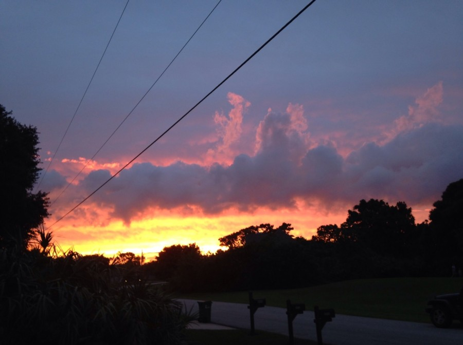 The sky displays its summer sunset Tuesday evening.