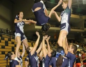Cheerleaders fund-raise for Citrus Bowl