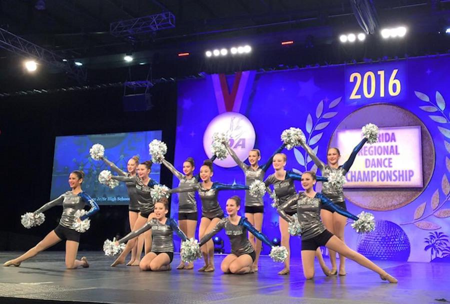 The Purrfections dance team placed first in regional competition on Jan. 18.