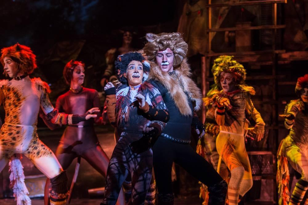 "On stage, junior Ian Kennedy performs in ""Cats."""