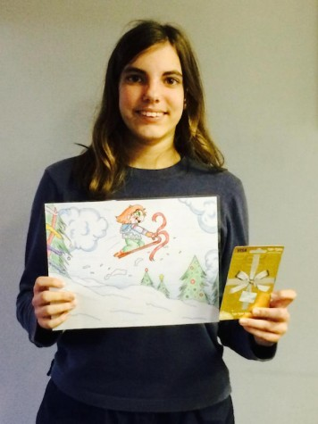 Freshman wins local art contest