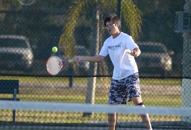 Boys' tennis shuts out Merritt Island Christian