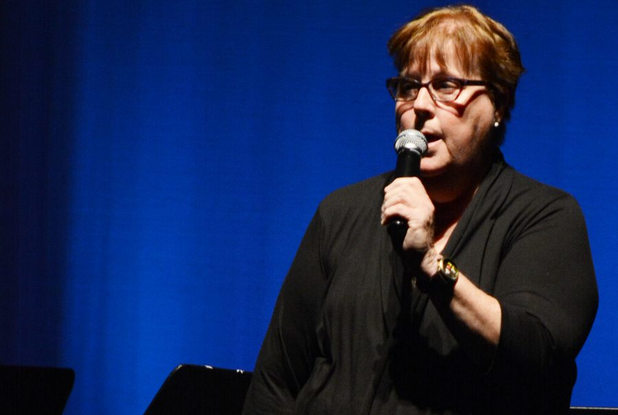 Maureen Fallon directs the school plays and the school orchestra.