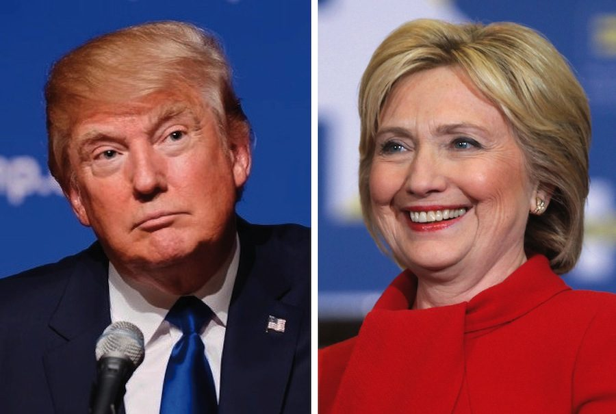 Donald Trump and Hillary Clinton will face off in November.