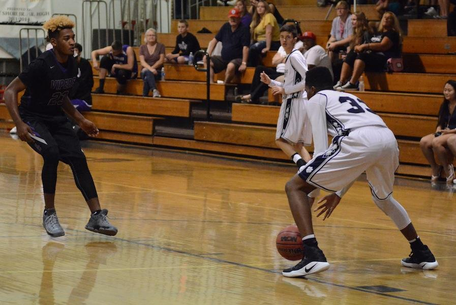 Junior Khalil Paul sets up to pass against Space Coast on Tuesday night.