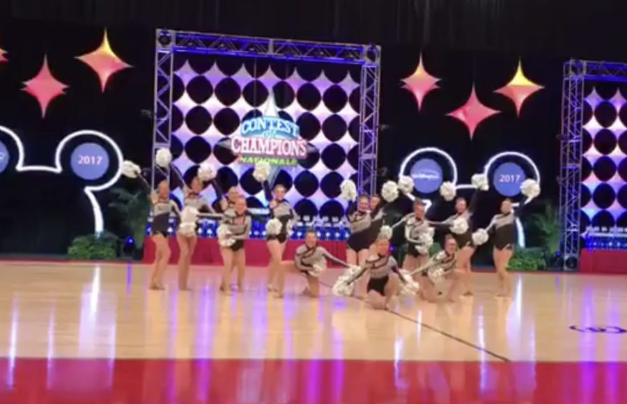 The dance team finishes out their season strong with their varsity pom performance.