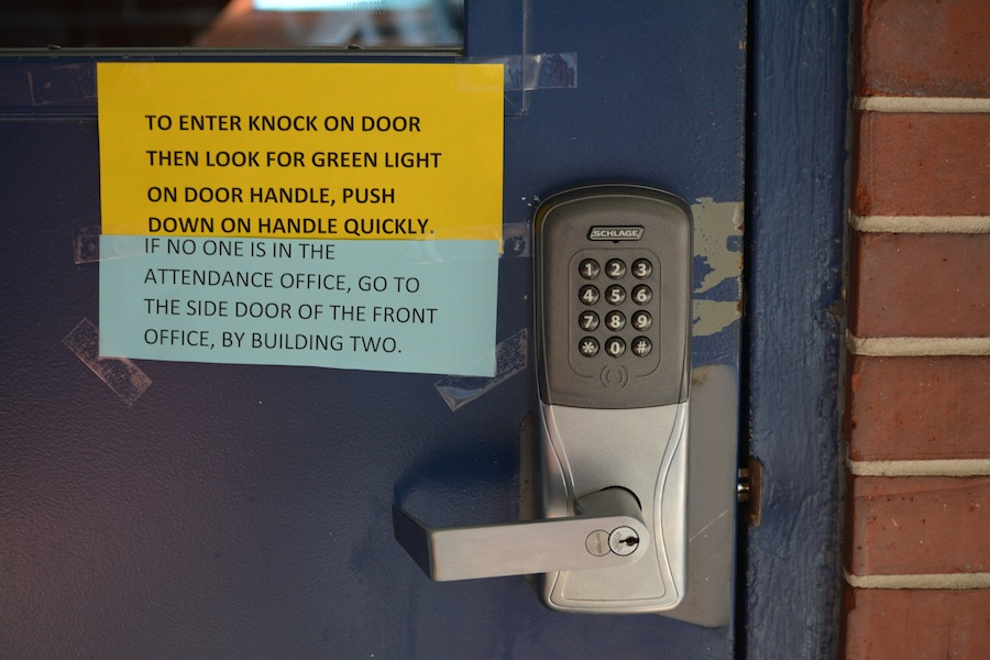 The new locks are part of a district-wide security enhancement program.