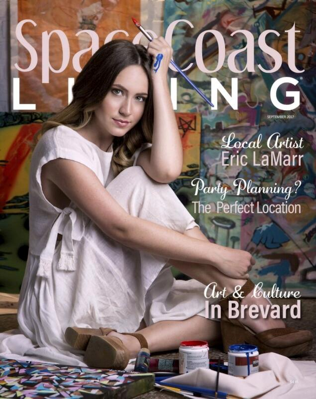 Lawrence models for the cover of Space Coast Living.