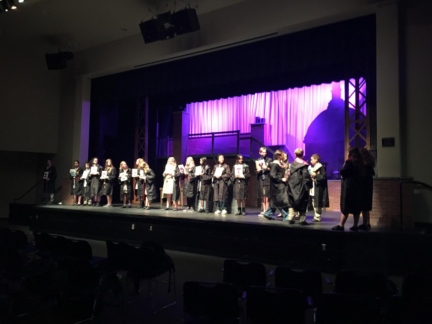 Middle School cast rehearse for