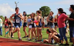Senior Jacob Kent finishes a recent cross-country race at Holy Trinity.