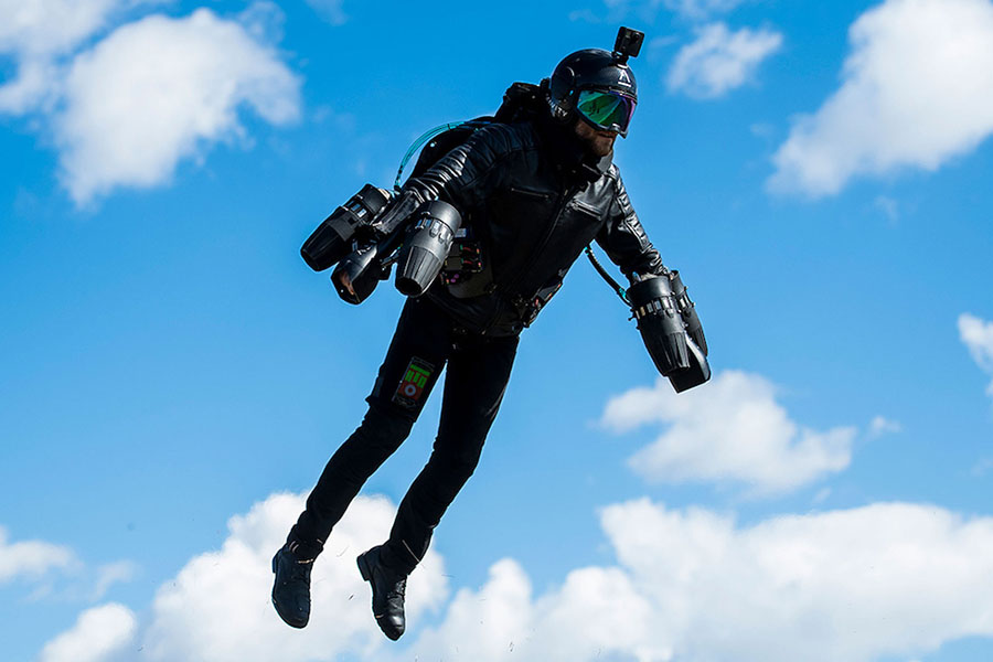 The Jet Suit provides the user with superhero-like capabilities.