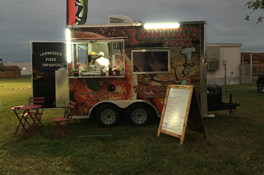 The pizza truck will be parked near the soccer field during home games.