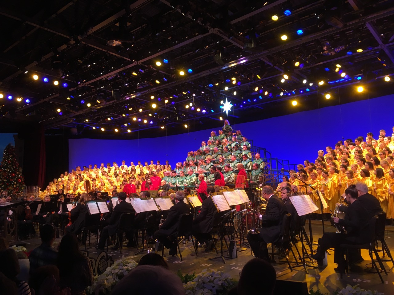 The annual Candlelight event takes place at Walt Disney World's Epcot International Festival of the Holidays in the World Showcase.