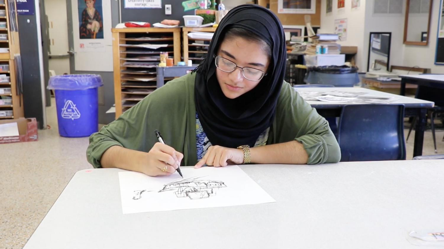 Senior Minaal Mushid has displayed an uncanny artistic ability, with her work being selected for display at the state fair exhibition.