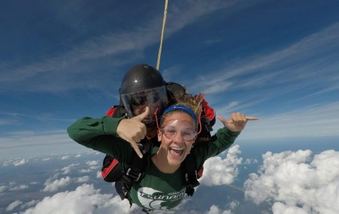 Skydiving senior