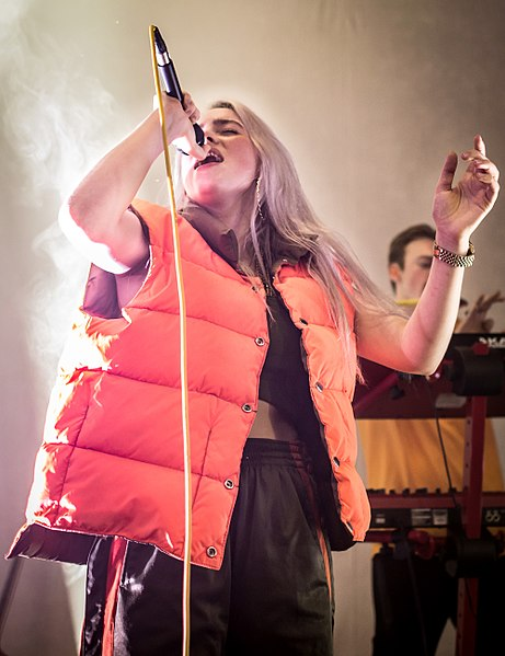 Billie Eilish performs in Los Angeles in 2017.
