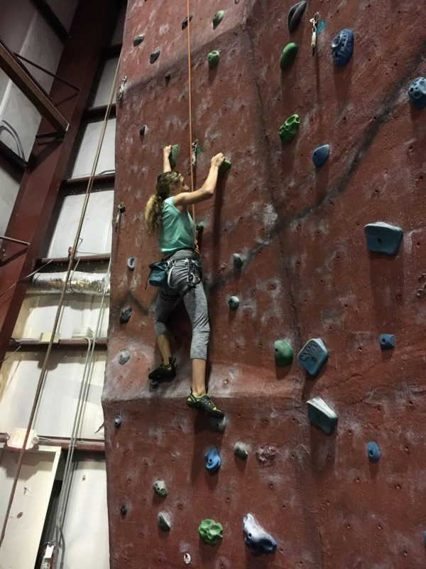 Rock-climbing provides alternative workout