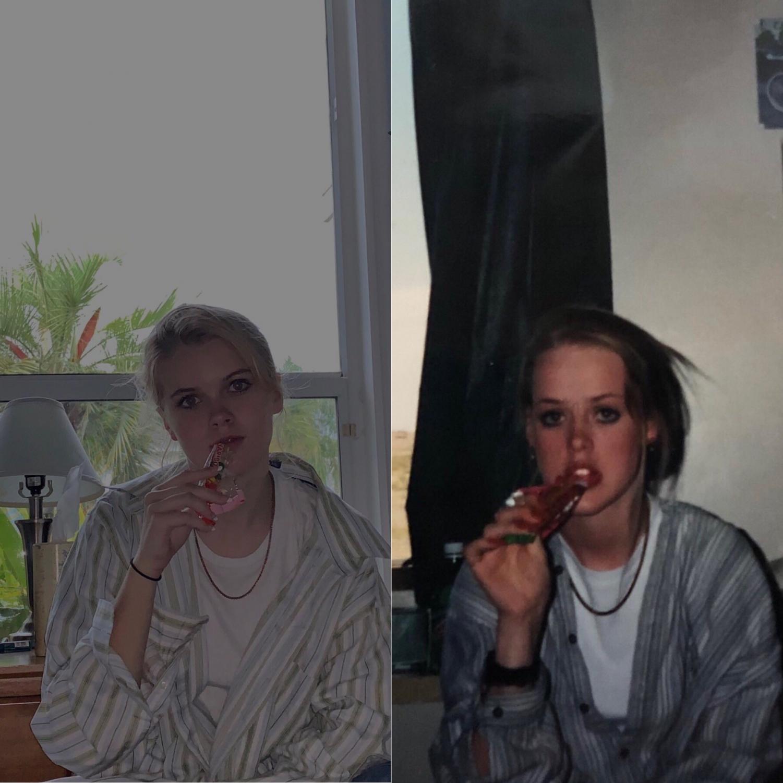 Junior Lexi Vander recreates her mothers old photos