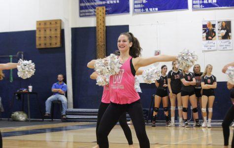 Dance team takes on pep rallies