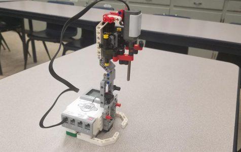 Robotics team checks the temperature