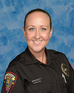 School Resource Officer Valerie Butler continues to work on campus.