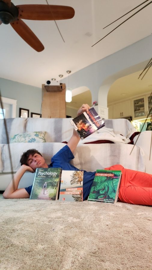 Evan Ratkus (11) is  tasked with studying for multiple AP exams.