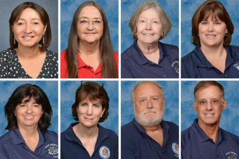 Spanish teacher Ogla Evers, technology specialist Terri Friend, English teacher Mary Mason, social studies teacher Angela Hill, science teacher Magdalena Molledo, social studies teacher Brooke Owen-Thomas, social studies teacher Jim Pustay and math teacher Steve Thomas will not return to West Shore next fall.