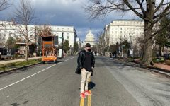 Andrew Catti explores the empty streets of D.C. on Jan. 20.