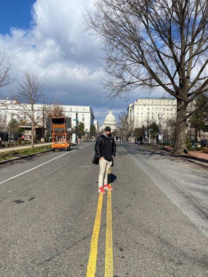 Andrew+Catti+explores+the+empty+streets+of+D.C.+on+Jan.+20.