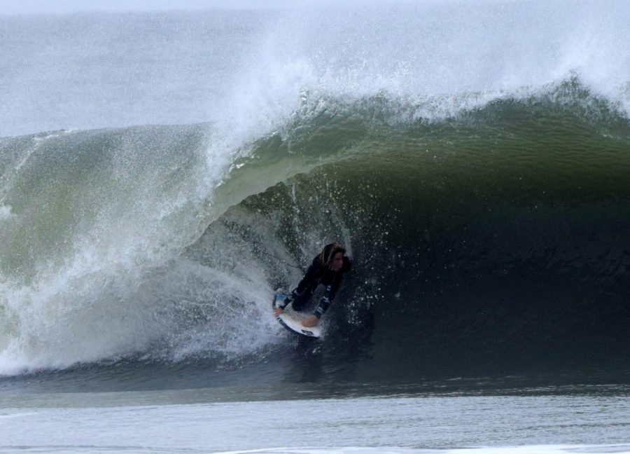 Wittemann reaches the end of a barrel.
