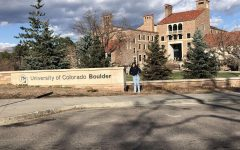 Senior Katie Perez tours the University of Colorado Boulder.