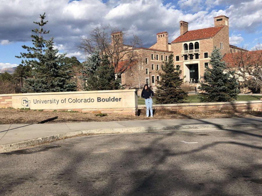 Senior Katie Perez tours the University of Colorado Boulder in December over Winter Break.