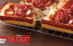 Pizza Hut's Detroit-style pie salty, bland.