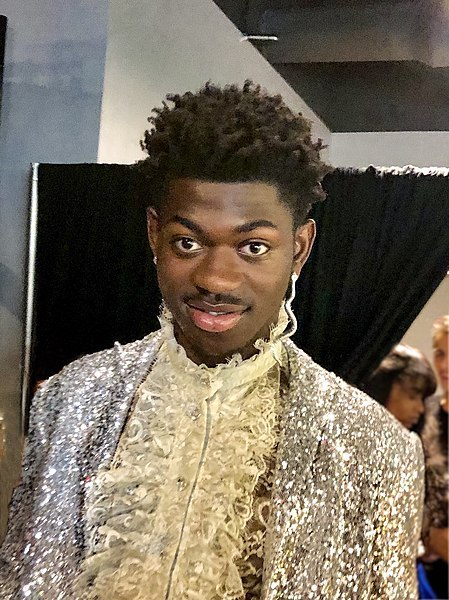 Lil Nas X back stage at the 2019 MTV Video Music Awards.