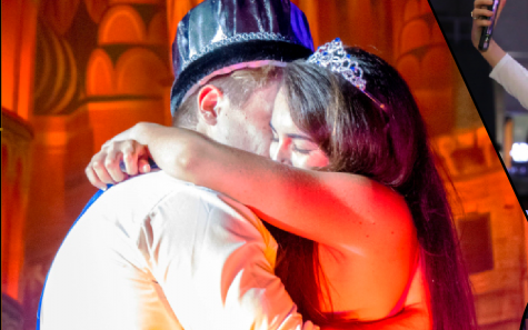 Chloe Desantis and Wesley Dennis share a moment as king and queen of the 2017 Homecoming dance.